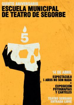 Sergio Serrano | Diseño Gráfico | Cartel Escuela Municipal de Teatro de Segorbe